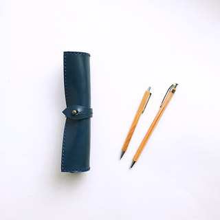 Scroll pen case indigo