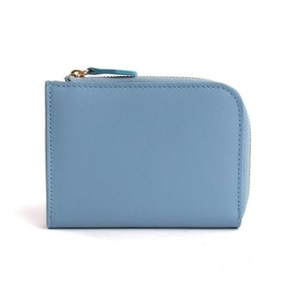 韓國Socharming-Tidy Leather Wallet-Blue