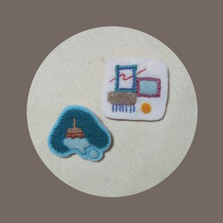 Wipe the Painted Afternoon / Manual Embroidery Pin Set