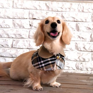 Handmade Tartan / Plaid Pet British Cape - Noble Black - Dog/Cat/Rabbit【ZAZAZOO】