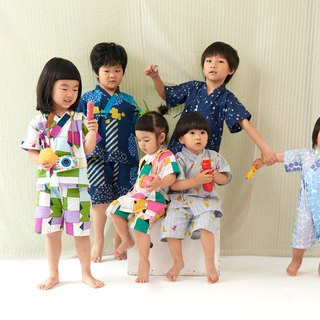 Blossom bloom - Summer children's Japanese flat / bathrobe # three models