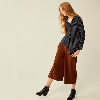 AEVEA single-breasted slit wide pants