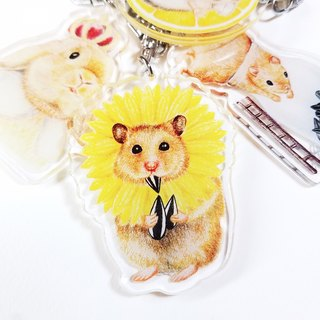 Keychain - mouse flowers