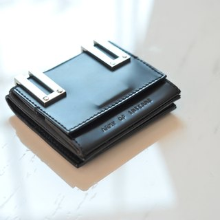 Ava Wallet in black smooth leather