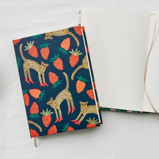 7321 Design BBH Hardback - Blank Notebook - Strawberry Leopard, 73D73907