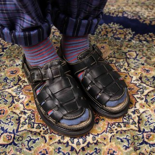 Tsubasa.Y Ancient House A10 Black Monk Martin Sandals, Dr.Martens England