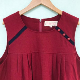 Dress / Red and Black Babydoll Dress