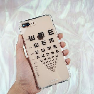 Painted four-corner air cushion anti-drop mobile phone case [measured visual black word]