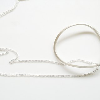 Simple Wind Chain, Geometry collection Pure Silver Chain Taiwan Designer Handmade Silver