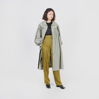[Egg plant ancient] grass vine Anna loose umbrella-shaped vintage windbreaker