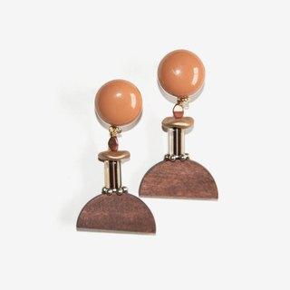 Earth Tone Geometric Earrings