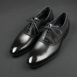 Simple Plain Toe lace Oxfords - Monarch Black