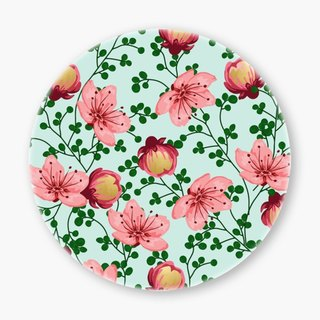Snupped Ceramic Coaster - 陶瓷杯墊 - Blush Vines