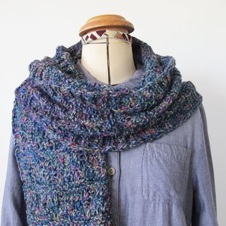 Lan wool scarf (sky gray blue)