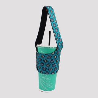 BLR green beverage bag I walk TU12 retro brick