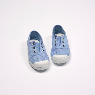 Spanish national canvas shoes CIENTA children's shoes jacquard cloth sky blue scented shoes 70998 93