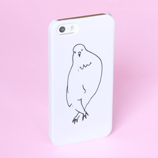 Fingers crossed birds Lady Smart phone case White  Bird Pigeon Parakeet Little