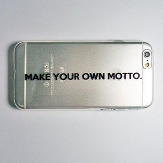 SO GEEK phone shell design brand THE MOTTO GEEK - MAKE YOUR OWN MOTTO subsection (transparent)