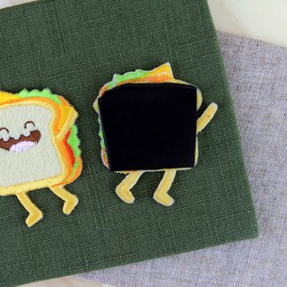 Embroidered magnets - Happy fast food series Happy sandwiches (single)