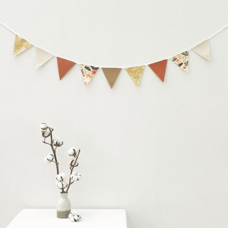 Orange yellow flower pennants home decoration