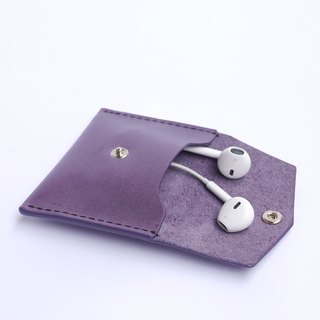 Wax leather earphone storage bag (multi-color optional. Free brand)