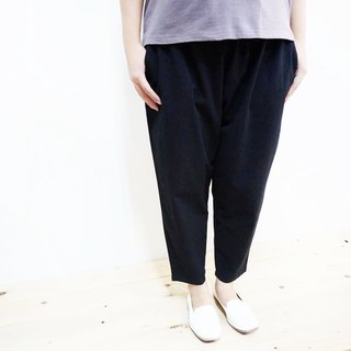 [MIT] Qi Wu eight 〇x nine-lun cotton pants (black) (men and women pass through)