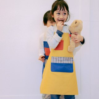 Brut Cake Children's Canvas Pocket Apron (Yellow) - Lovely, bright and durable color scheme makes children a good helper for small employees and mothers
