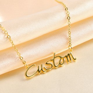 [18K Gold] Customized Necklace English Name Necklace 925 Sterling Silver Plated Rose Gold Plated 18K Gold Exchange Gift English Alphabet Necklace Mother's Day Gift