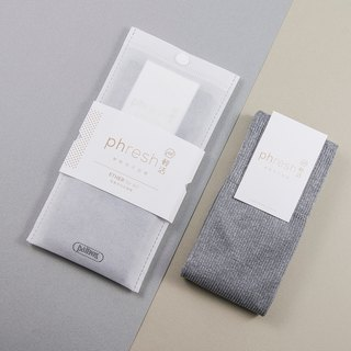 Light Ether - 焓 warm light casual socks - aluminum gray