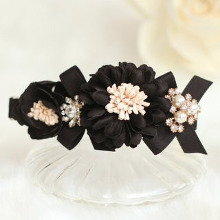 Romantic Flower Corsage Curved Hair Clip