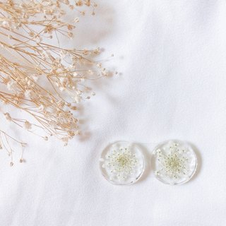 Dandelion Blessing Handmade Dry Flower Earring Ear Clips/Auricular Needle