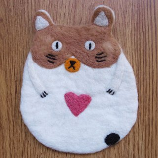 Potholder, Trivet, Pan Coaster, Pot holder, Felt Trivet Animal Cat