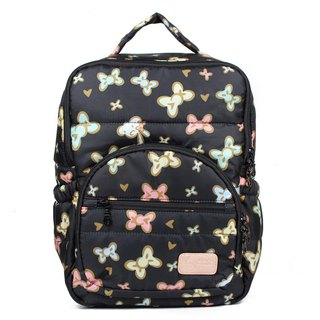 A4 book ‧ laptop can be put [waterproof zipper bag inside with chest buckle] small tofu - tweeted black
