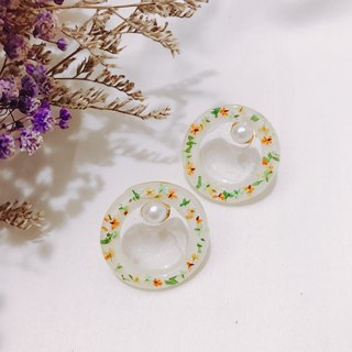 Candied Wreath - Sweet Orange Earrings