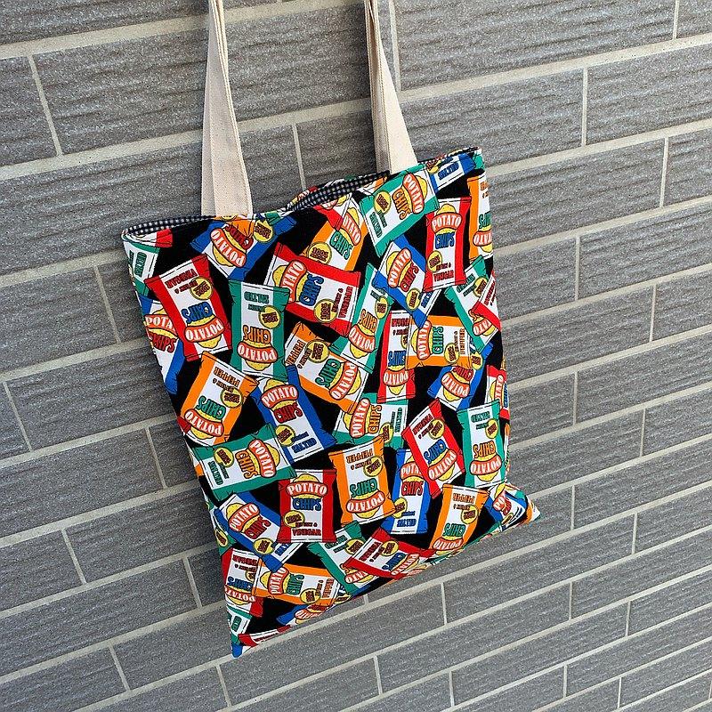 馬鈴薯片印花提袋 手提袋 扁袋 可提供客制不同尺寸或印花