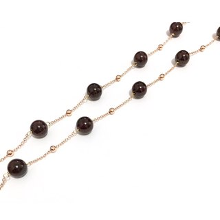 Little Elegant Garnet Necklace