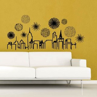 Smart Design Creative wall stickers Incognito ◆ gorgeous night (8 colors optional)