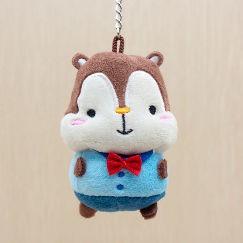 Cute Squirrel Squly Soft Plush Keychain G003SQT