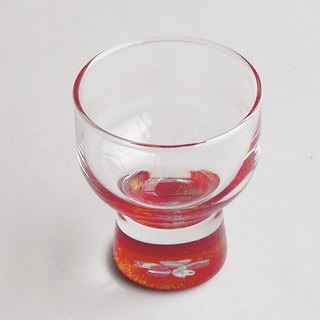 Sakura wine glasses (inlaid shell - vermilion)