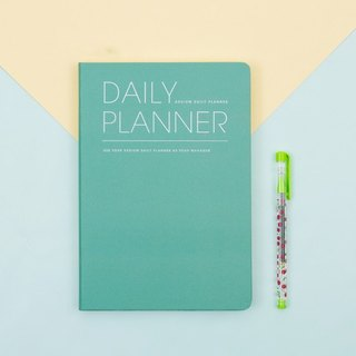 2018 ARDIUM DAILY PLANNER Calendar / Account (No Aging) - Mint Green