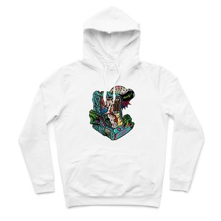 ZOMBIE - White - Hooded T-Shirt