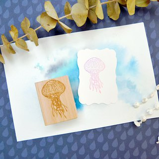 Jellyfish Rubber Stamp