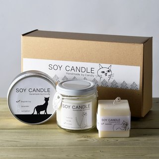 soy candle / 3 kinds set