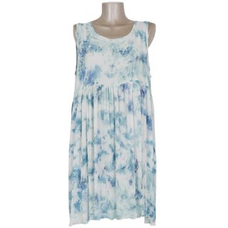 Uneven dyed sleeveless dress <Ice Blue>
