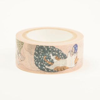Three cat shop ~ every day to sleep full saturated paper tape