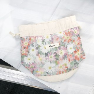 Watercolor flower / Japanese Cotton print / Shoulder bag  crossbodies bucket bag