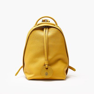 Bodhi says FOSTYLE first layer cowhide leather new basic shoulder bag pure lemon yellow original design simple wild color shoulder bag