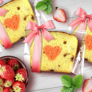 [Mr. Takamatsu handmade brownie monopoly] ribbon - strawberry refining milk chestnut cake