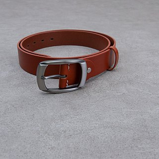 Be Two ∣ 38mm Italian vegetable tanned leather handmade belt / widened belt / variety of belt head / free imprint English name (light coffee color)