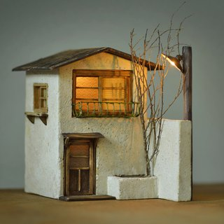 Cement old lamp house creation